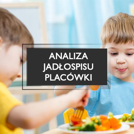 analiza jadłospisu placówki